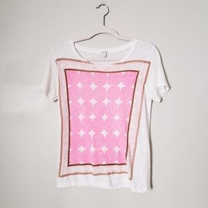J.CREW - PINK DOTS MID-CENTURY MOD GRAPHIC TEE.